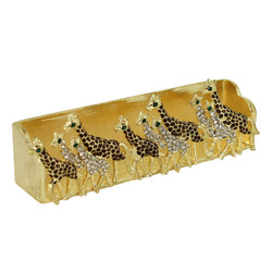 Family of Giraffes Business Card Holder