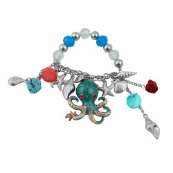 Octopus Charm Bracelet Stretch