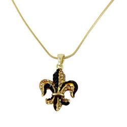 Majestic Gold Fleur De Lis Necklace