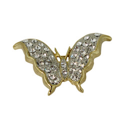 Bejeweled Butterfly Brooch