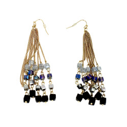 Dazzling Dangling Square Beaded Earrings