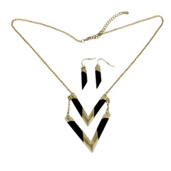 Know Your Direction Double Necklace With Stone Onyx