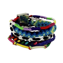 Colorful Multi Strands Woven Bracelet