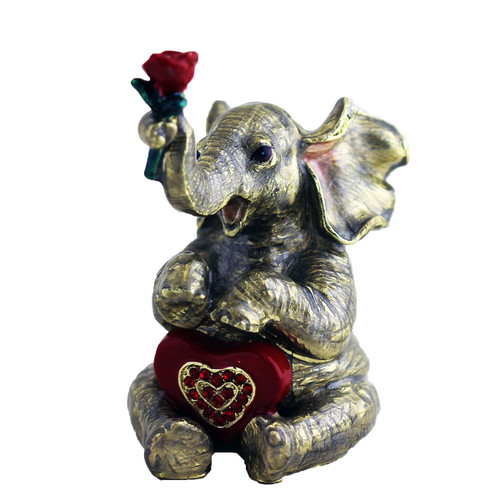 Loving, Giving Elephant Trinket Box