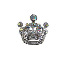 Vintage Style Crown Brooch