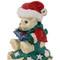 Merry Christmas Teddy Bear with Blue Caroling Book Trinket Box