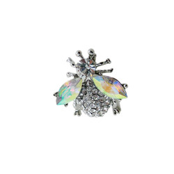 Silver Crystal Bumble Bee Pin