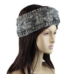 Braided Woven Headband Grey