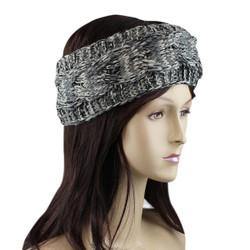 Braided Woven Headband Grey