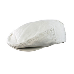 Natural Colored Canvas Newsboy Cap