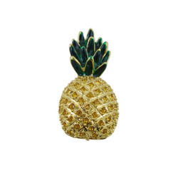 Pineapple Pin Pendant Jeweled