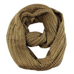 Classic Infinity Scarf Solid Color Brown