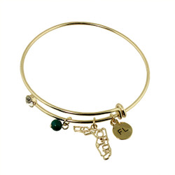 Florida State Charms Bangle Bracelet Gold
