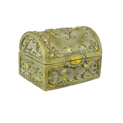 Vintage Floral Jewelry Treasure Box