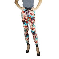 Colorful Velvet Harem Pants Watercolor