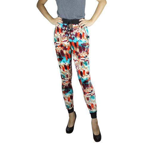 Colorful Velvet Harem Pants Watercolor