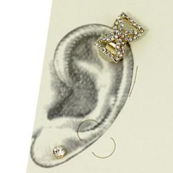 Rhinestone Bow Tie Ear Cuff Set