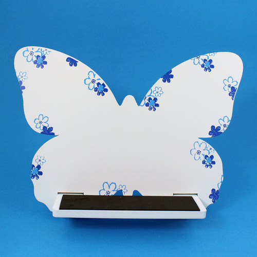 Butterfly Tablet / iPad Holder Wood Stand White