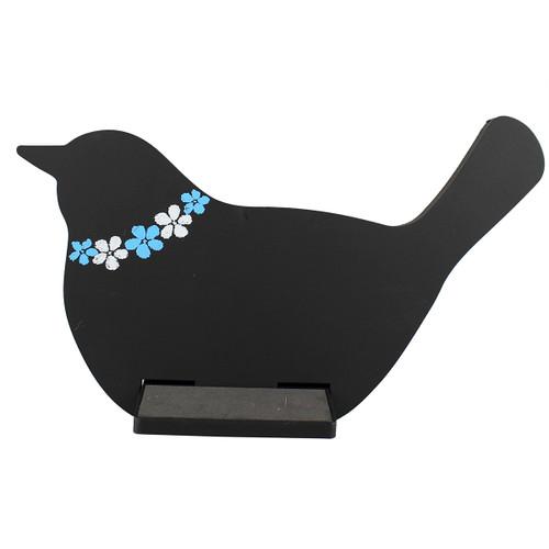 Bird Tablet / iPad Holder Wood Stand Black