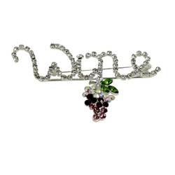Crystal Wine Brooch