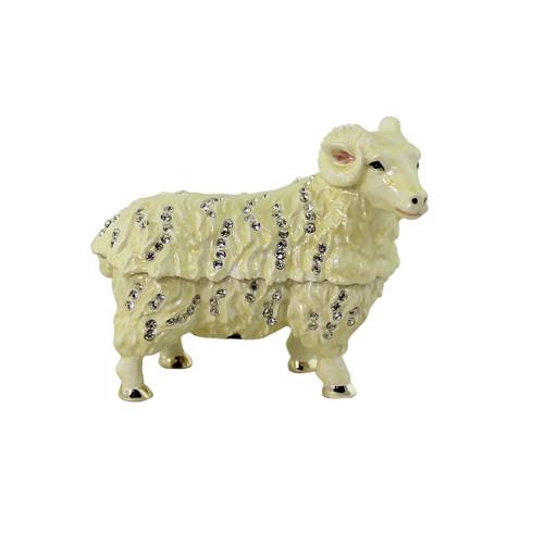 Sheep Trinket Box Bejeweled