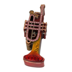 Red Trumpet Trinket Box Bejeweled