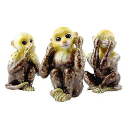 See Hear Speak No Evil Monkey Trinket Box Set