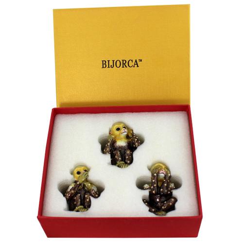 See Hear Speak No Evil Monkey Trinket Box Set