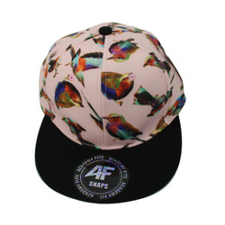 Beautiful Birds Vinyl Cap Black and Pink