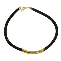 Diamond Illusion Necklace Black and Gold