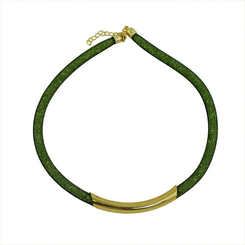 Diamond Illusion Necklace Olive and Gold