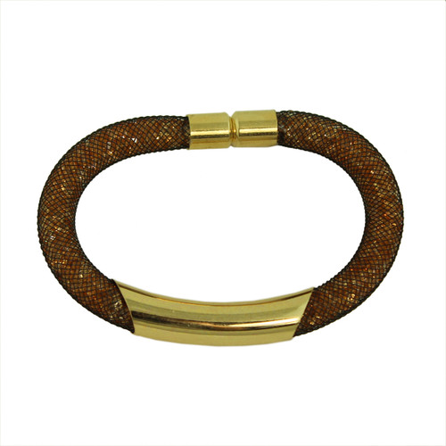 Diamond Illusion Bracelet Brown and Gold