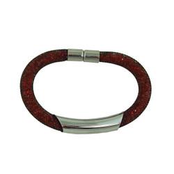 Diamond Illusion Bracelet Red and Gold