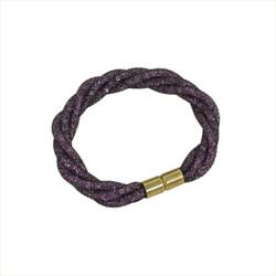 Twisted Diamond Illusion Bracelet Purple and Gold