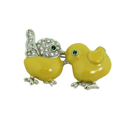 Baby Chicks Brooch