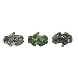 Large Tree Frog Crystal Bracelet Set of 3