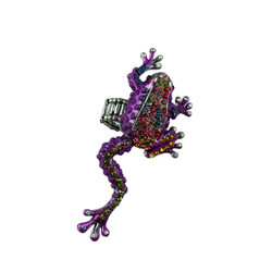 Colorful Frog Adjustable Ring