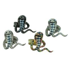 Cobra Adjustable Ring Set of 4