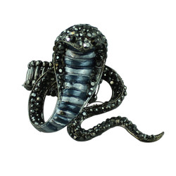 Black Cobra Adjustable Ring