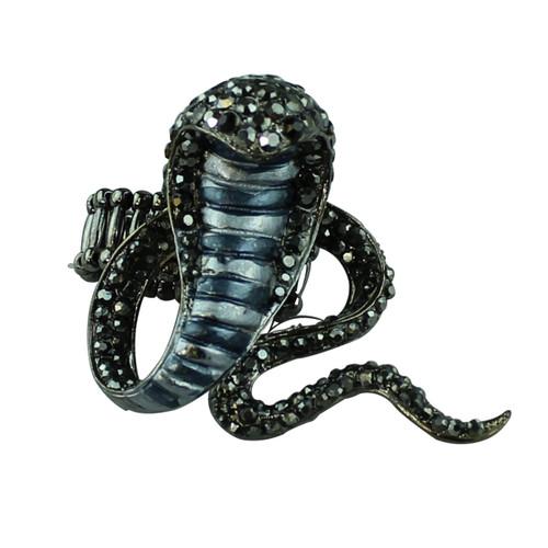Black Cobra Adjustable Ring
