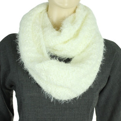 Soft and Silky Faux Fur Infinity Scarf Vanilla