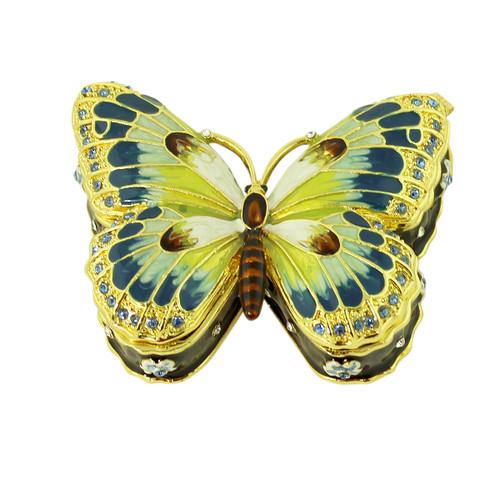 Blue Butterfly Trinket Box