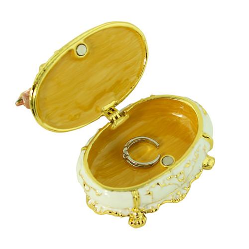 Mirrored Dresser White Trinket box