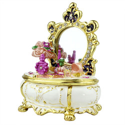 Mirrored Dresser White Trinket box
