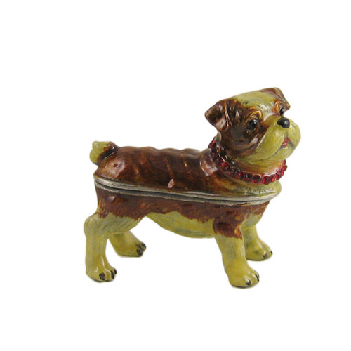 Pug Trinket Box Bejeweled