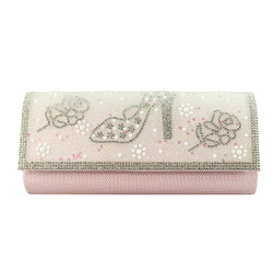 Stiletto and Roses Evening Clutch Pink