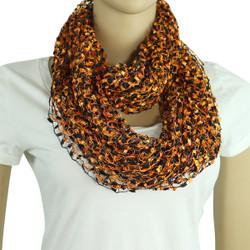 black and orange confetti scarf