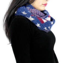 Soft Knit Patriotic Infinity Scarf