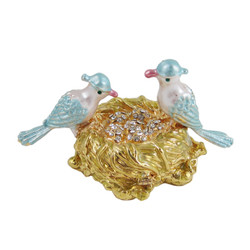 Bluebird Nest Trinket Box Bejeweled (JUST RESTOCKED)