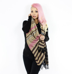 Brown Stripes Pashmina Scarf